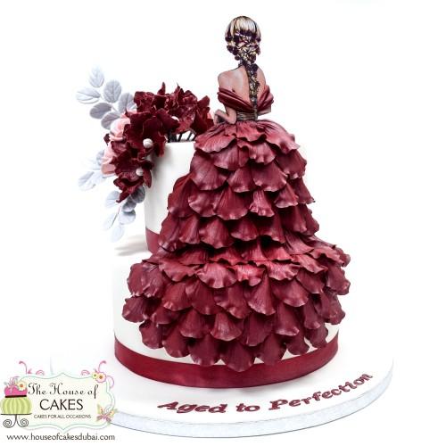elegant dress cake 13