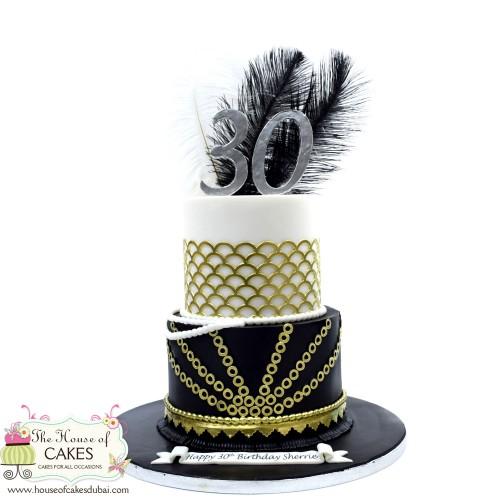 Great Gatsby cake 1