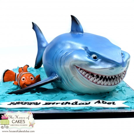 bruce the shark cake 6