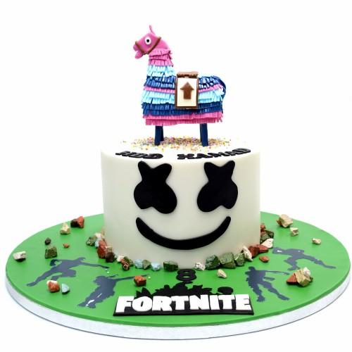 marshmelo and lama fortnite cake 7
