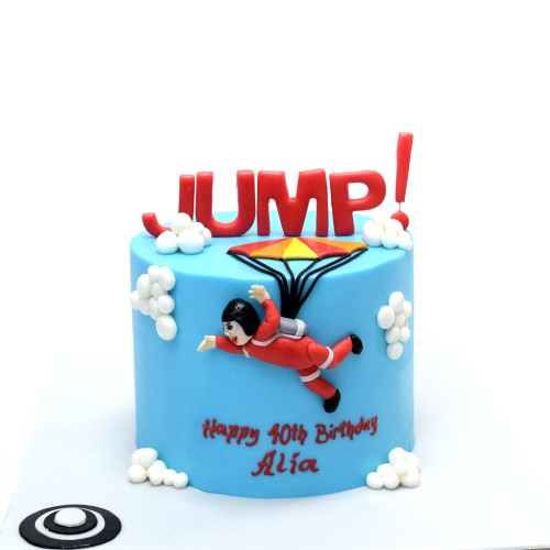 Skydive parachute cake