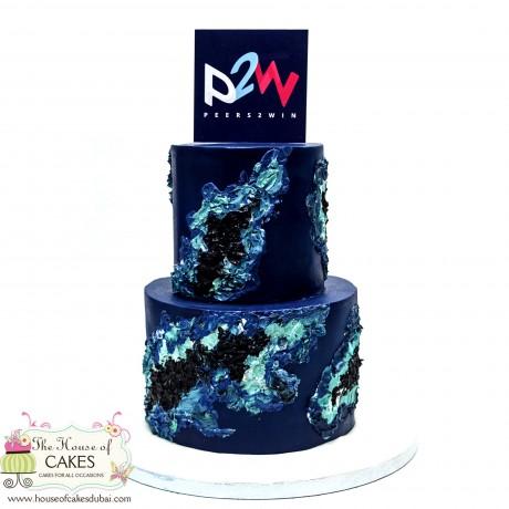 amazing cake with company logo 12