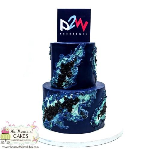 amazing cake with company logo 13