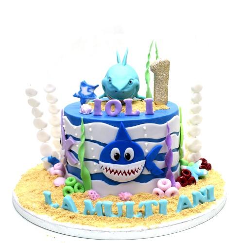 baby shark cake 5 8