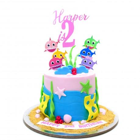 baby shark cake 9 6