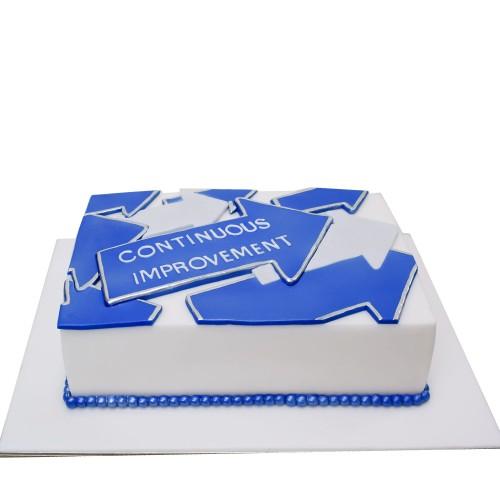 Continues Improvement Corporate Cake