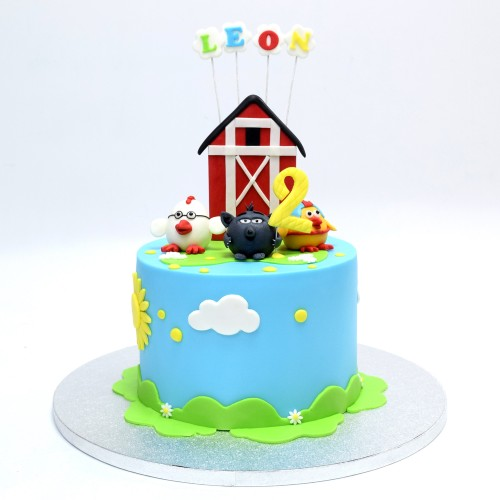 Cute Farm Animals Cake