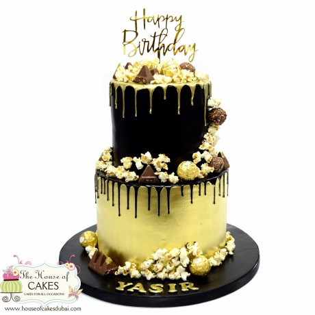 black and gold cake 2 6