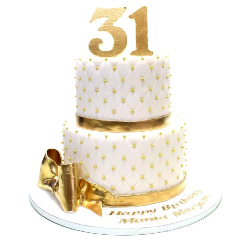 white and gold cake 8 7