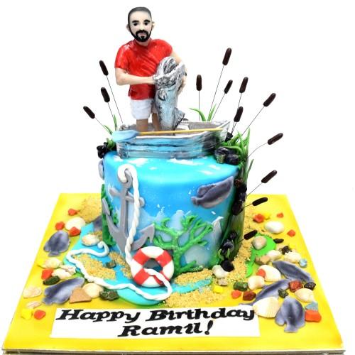 fishing cake 9 7