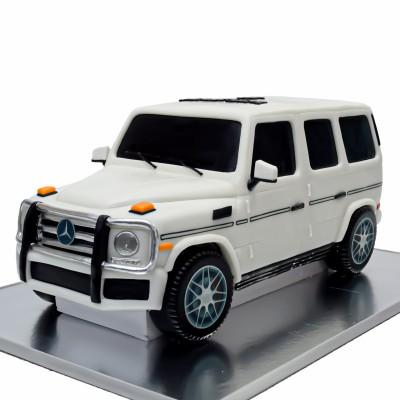 Mercedes G55 cake white