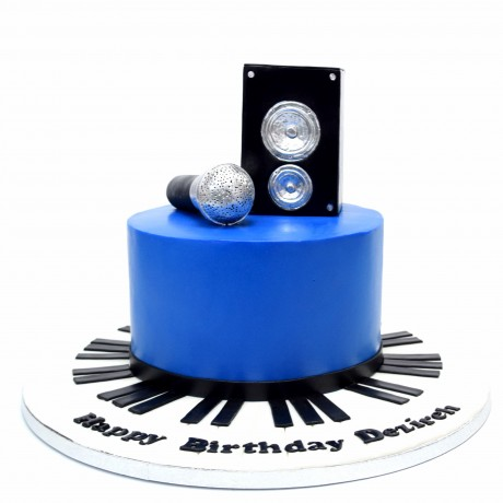 microphone and speaker cake 6