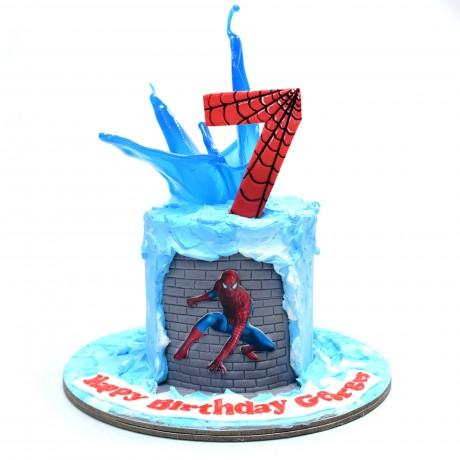 spiderman cake 9 6