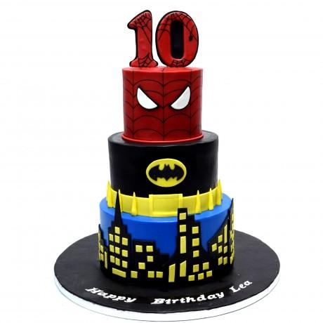 superheroes cake 34 6