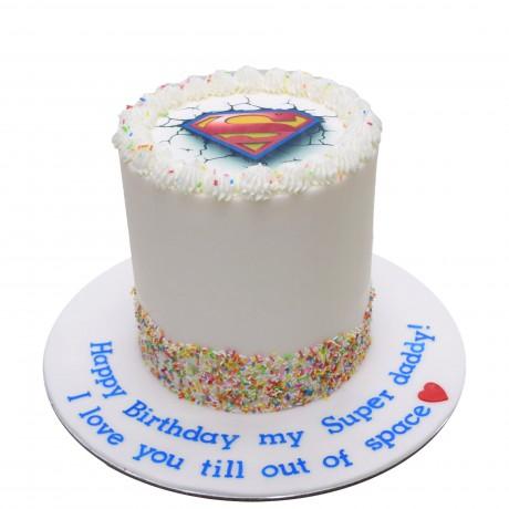 superman cake 7 6