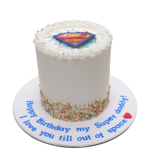 superman cake 7 7