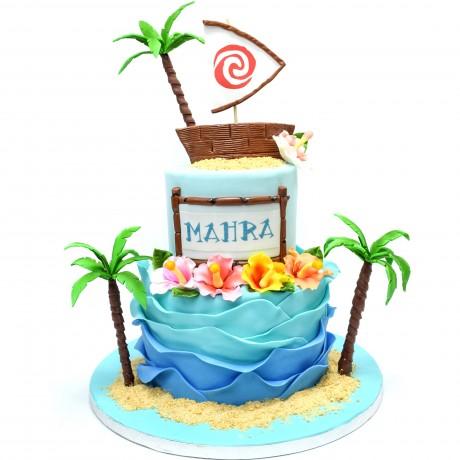 tropical hawaii theme cake 2 6