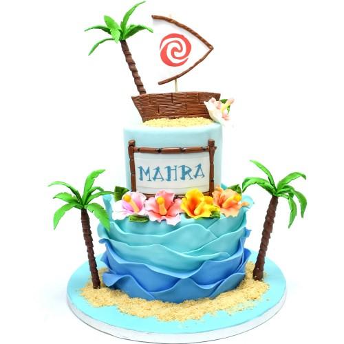 Tropical Hawaii theme cake 2