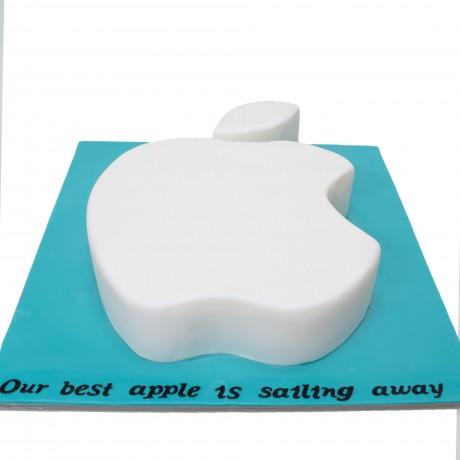 apple logo cake 12