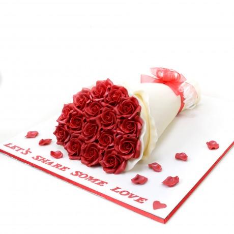 bouquet cake 4 6
