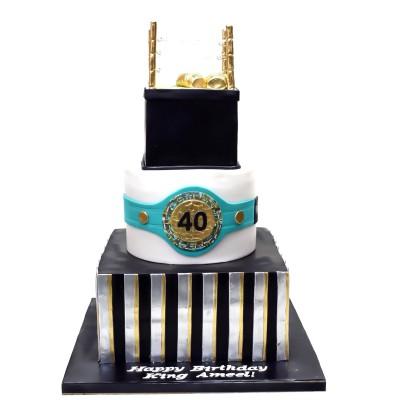 MMA boxing ring cake