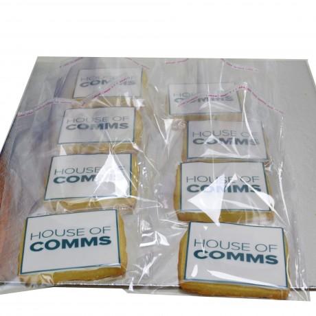 cookies with logo rectangular 12