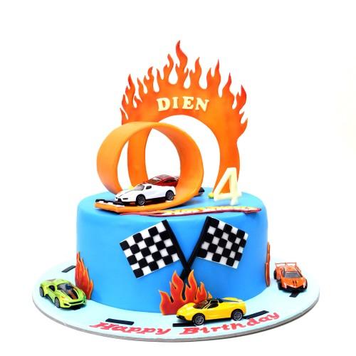 hot wheels cake 4 7