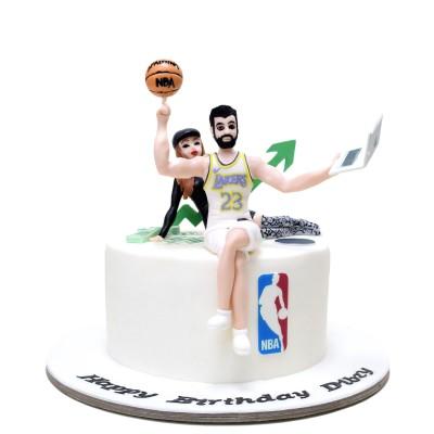 Basketball player cake