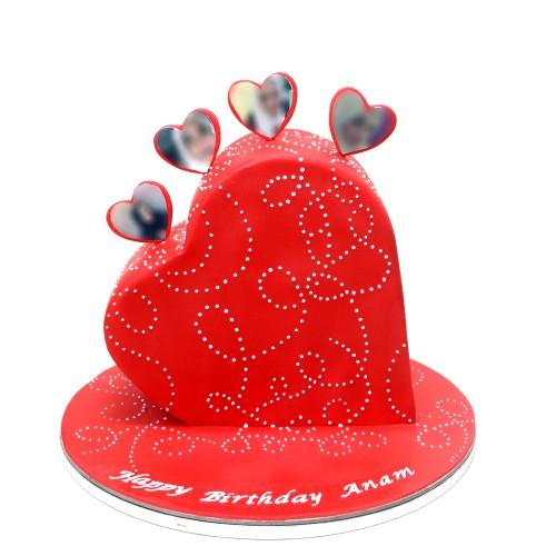 3d heart cake 7