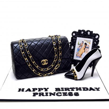 chanel bag and shoe cake 1 6