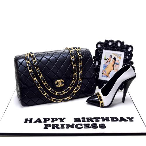chanel bag and shoe cake 1 7