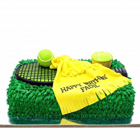 tennis theme cake 7 6