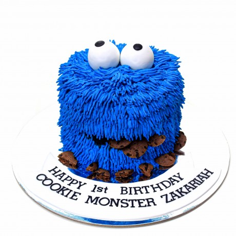 cookie monster cake 3 6