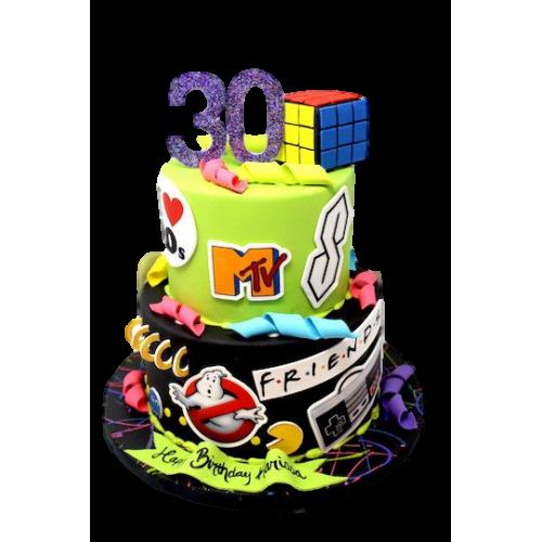 favorite things cake 5 - 90's theme 13