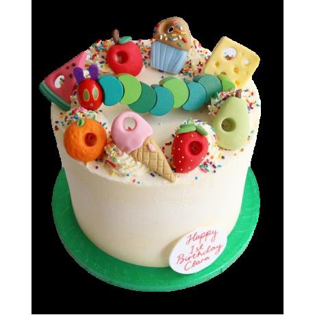 caterpillar cake 6