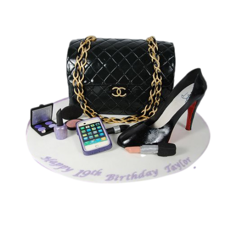 chanel bag and louboutin shoe cake 6