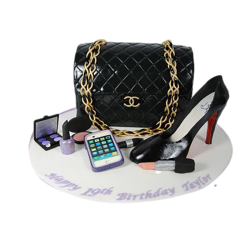 chanel bag and louboutin shoe cake 7