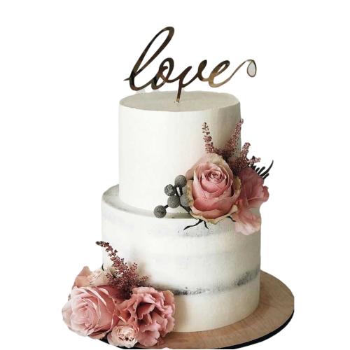 engagement cake with pink roses 7