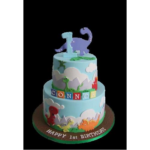dinosaurs theme cake 2 7