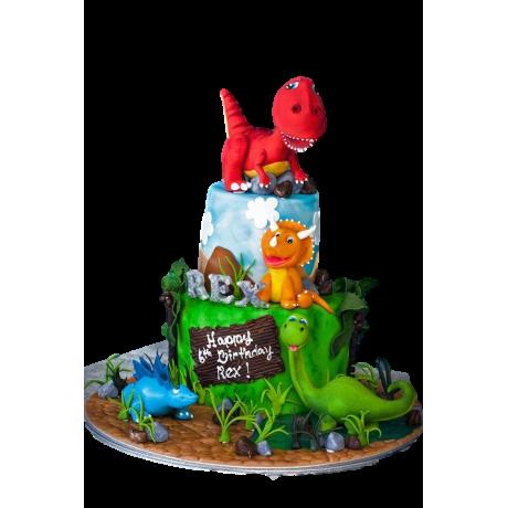 dinosaurs cake 2 6