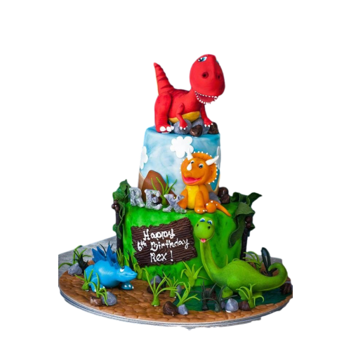 dinosaurs cake 2 7