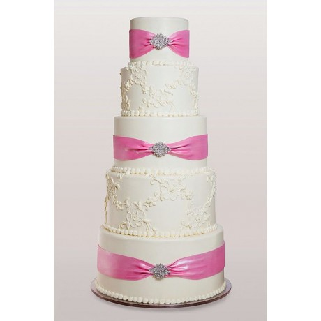 cake with pink ribbon 6