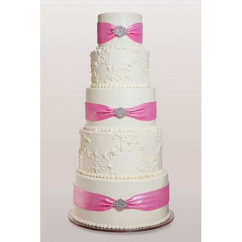 cake with pink ribbon 7