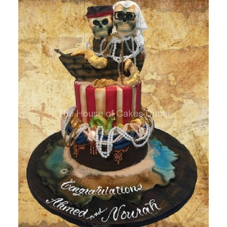 Pirate engagement cake