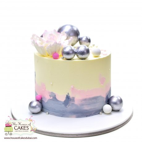 Cake with silver balls