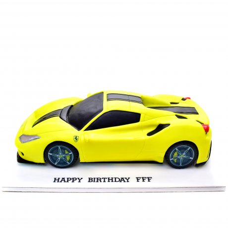 lamborghini cake - yellow 7