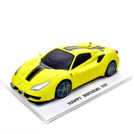lamborghini cake - yellow 6
