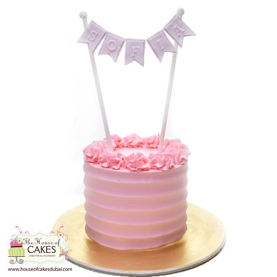 Pink cream cake