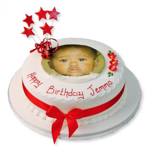 Cake with photo round small