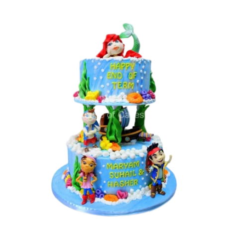 Fine Ariel And Jake Neverland Pirates Cake Funny Birthday Cards Online Inifodamsfinfo